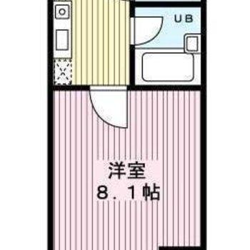 居室とキッチンは扉で仕切られています。