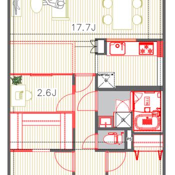 書斎込みの2SLDKでたっぷり空間を堪能して下さい〜!