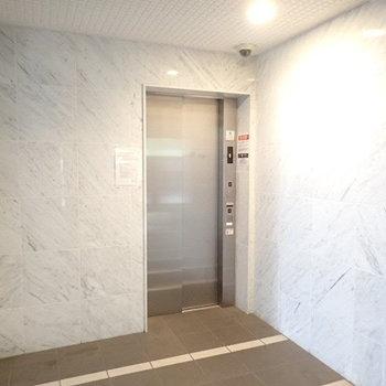 こちらは1階エレベーターホール。