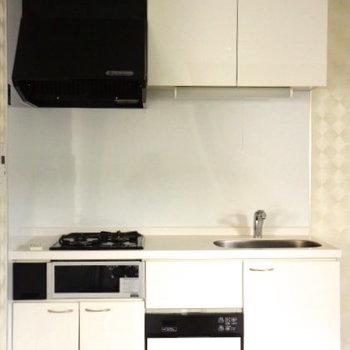 2口ガスコンロのシステムキッチンです。※写真は同タイプの別部屋