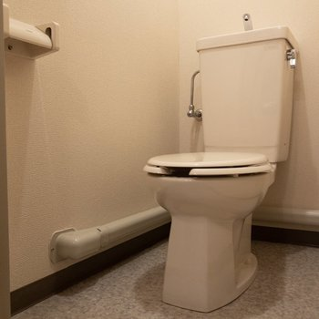 トイレはゆったり。お手入れもしやすそう。※写真は3階反転間取り別部屋のものです