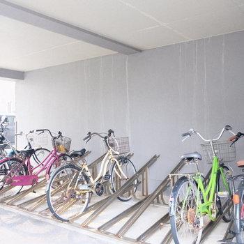 駐輪場は雨の心配なしっ