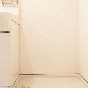 洗濯パンは脱衣所に。水回りはまとまっています。(※写真は4階の反転間取り別部屋のものです)