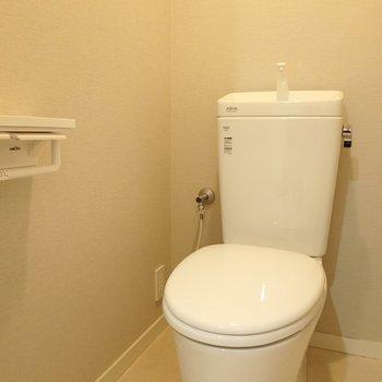 綺麗なこざっぱりしたトイレです。