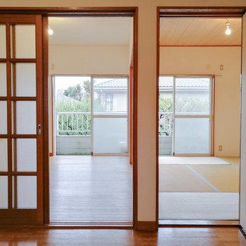 和洋折衷のお部屋です。