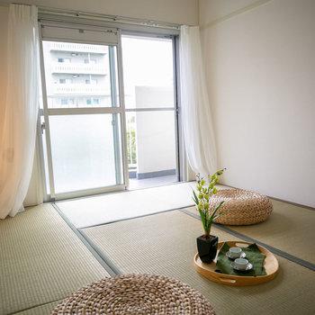 LDKのお隣にもう1部屋、和室です※写真は同間取りのモデルルームです