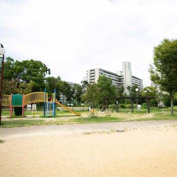 大きな公園もすぐ近くにありますよ