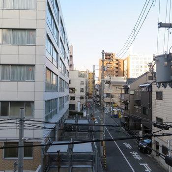 街なかがちらり(※写真は3階の別部屋からのものです)