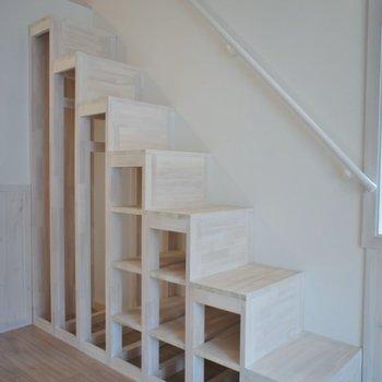 お洒落な階段。