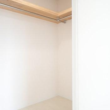洋室の収納です。片側から。