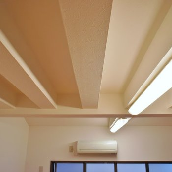 天井のデザインも個性的