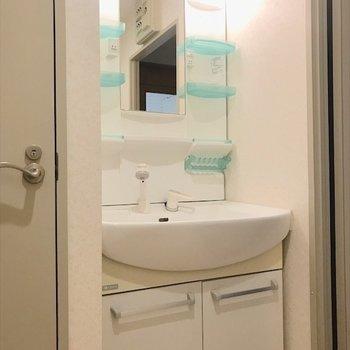 独立洗面台で整理整頓できますね。