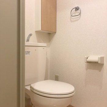 トイレも十分な広さ。