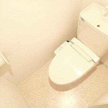 トイレです。広くはないですが、十分な広さ。