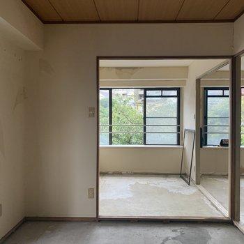 【工事前】窓からの植栽がアートのよう・・