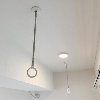【LDK】雨の日でも、しっかりと室内干しのできる空間。
