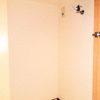 玄関のシューズボックス横に洗濯機置場が!扉で隠せるのがいいね♬(※写真は6階の同間取り別部屋のものです)