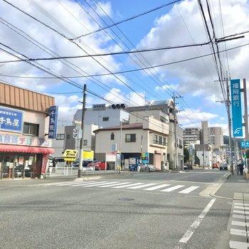 お部屋の周りには銀行や病院、篠栗町役場など。