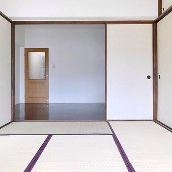 襖を外せばダイニング含めて20帖超えの広々空間に変身します!