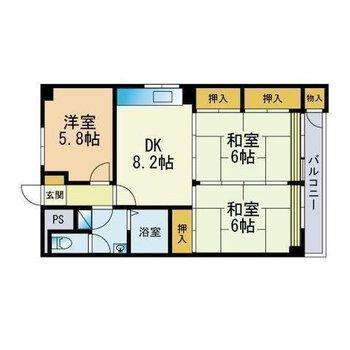 家族で住みたい広々3dkのお部屋。