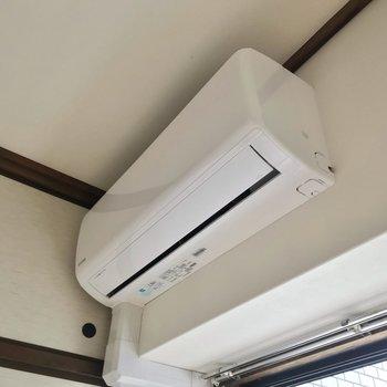 新しくエアコンも付きました。どちらの和室にもありますよ。
