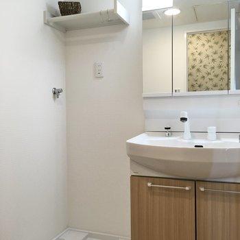 広々した洗面スペース。