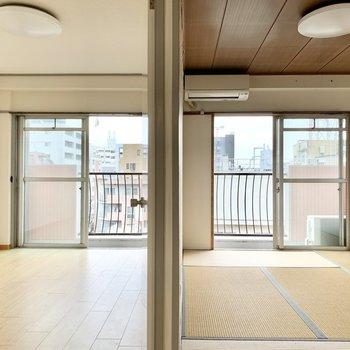 南東向きの6帖のお部屋、和室・洋室とりそろえております!