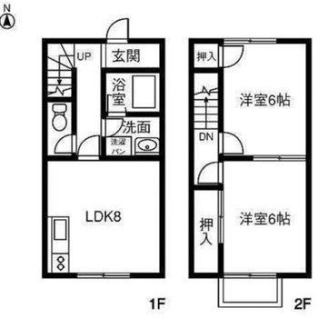 お部屋はひとりでも、家族でも住めるメゾネット!