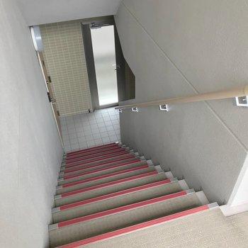 階段幅もしっかりめなので、大荷物の日も困らなさそう。