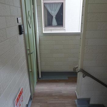 玄関上がって右がお部屋の扉です。