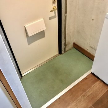 玄関のタタキ部分は少しコンパクト