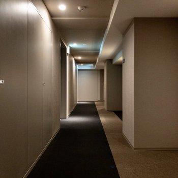 ホテルライクな共用部。静かでした。