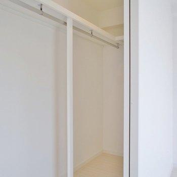 リビングには奥行きのある収納※写真は同タイプの別室。