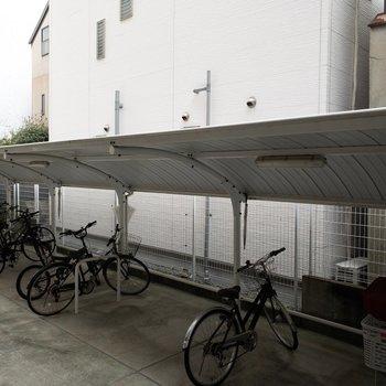 かなり台数の置ける駐輪場!