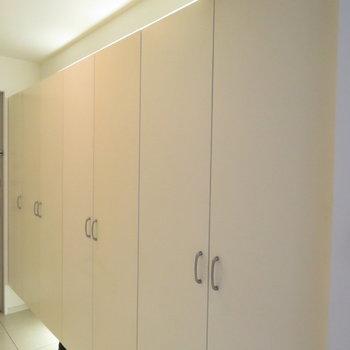 廊下のこれは(※写真は4階の同間取り別部屋のものです)