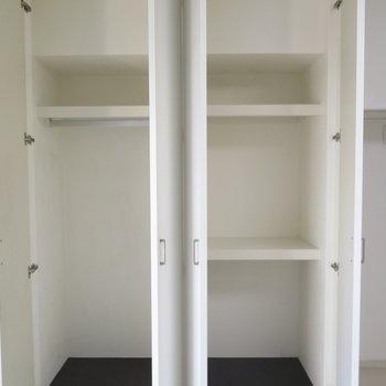 ここが部屋の収納です(※写真は4階の同間取り別部屋のものです)
