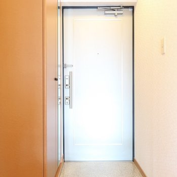 玄関には大きなシューズBOXも!(※写真は2階の反転間取り別部屋のものです)