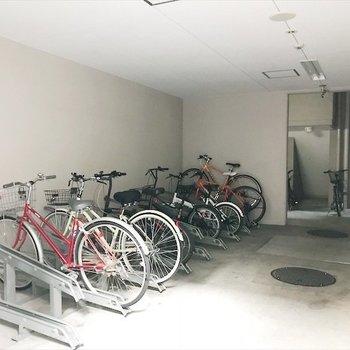 駐輪場は敷地内。