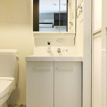洗面台はおとなりさんです。※写真は反転間取り・別部屋のものです