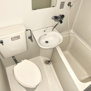 丸洗いできちゃう3点ユニット。※同間取りの5階別部屋、クリーニング・通電前の写真です
