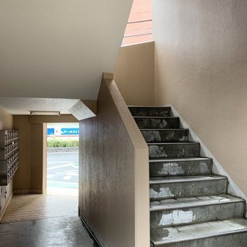 階段を3階まで。
