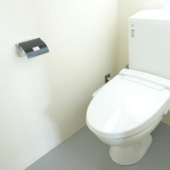 トイレはシンプルなウォシュレット付き。