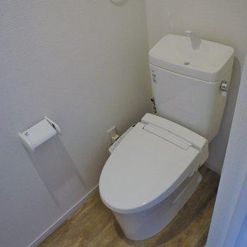 トイレも綺麗に。