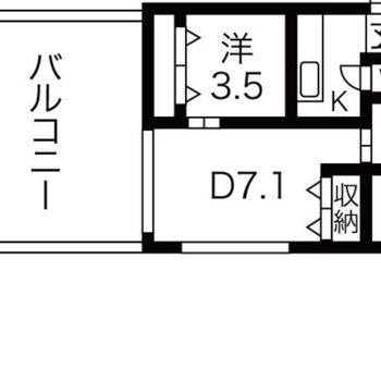 お部屋と遜色無い広さのバルコニー! ※クリーニング前のお部屋です。
