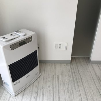 暖房器具もついてます