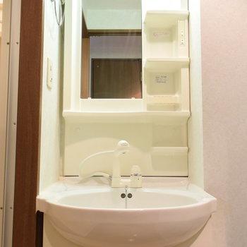 洗面台も使いやすそう(※写真は2階の反転間取り別部屋のものです)