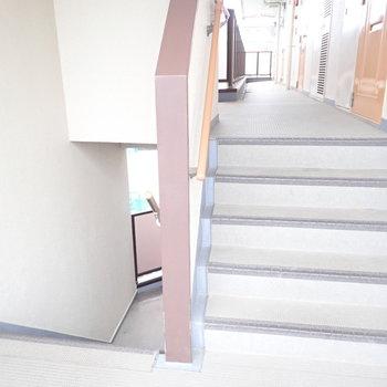4階ですが階段です...がんばりましょう。