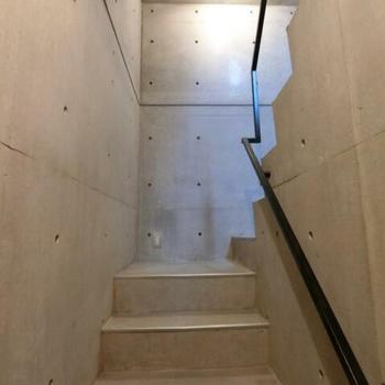 楽しい予感のする階段。