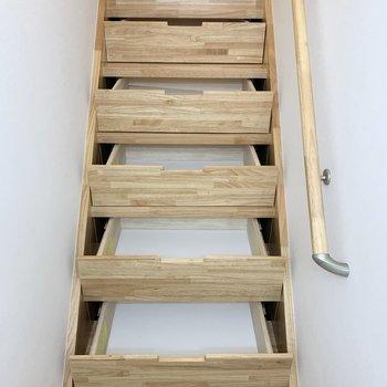階段下収納が隠されているんです。