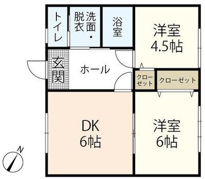 Town House鶴江の間取り